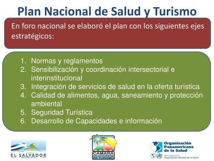 Plan Nacional de Salud y Turismo