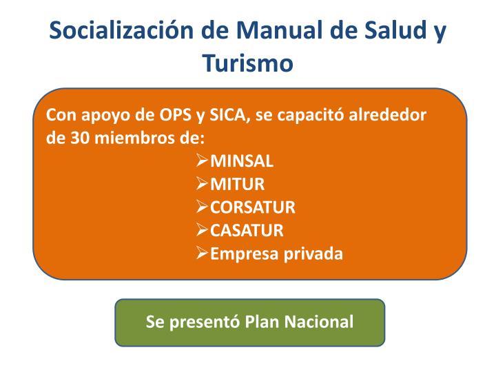 Socialización de Manual de Salud y Turismo