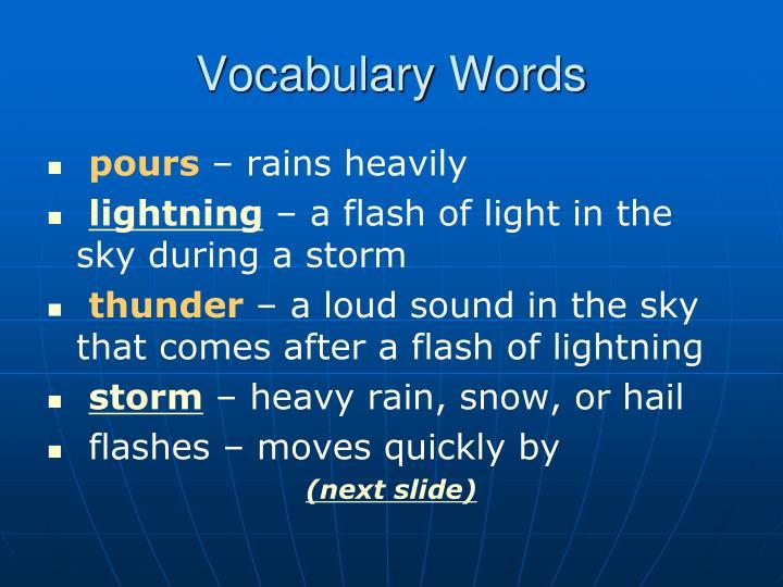 Vocabulary Words