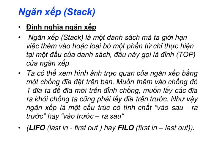 Ngăn xếp (Stack)
