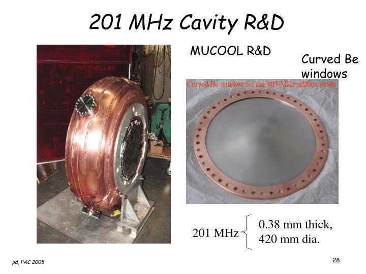 201 MHz Cavity R&D