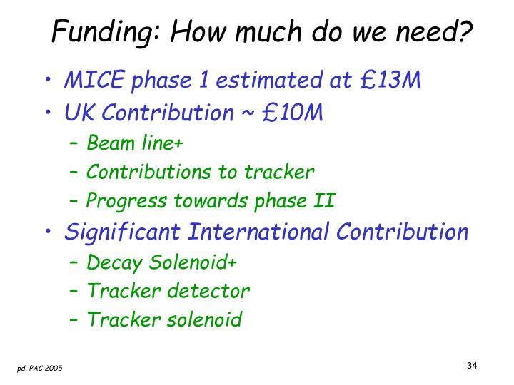 Funding: How much do we need?