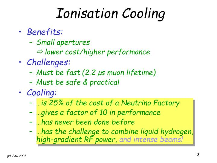 Ionisation Cooling