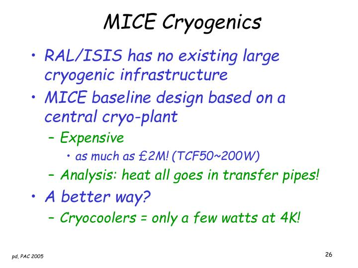 MICE Cryogenics