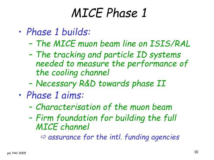 MICE Phase 1