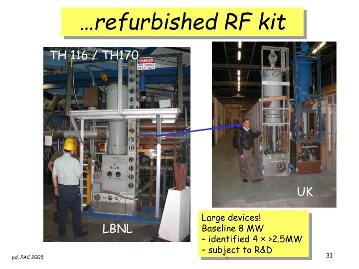 …refurbished RF kit