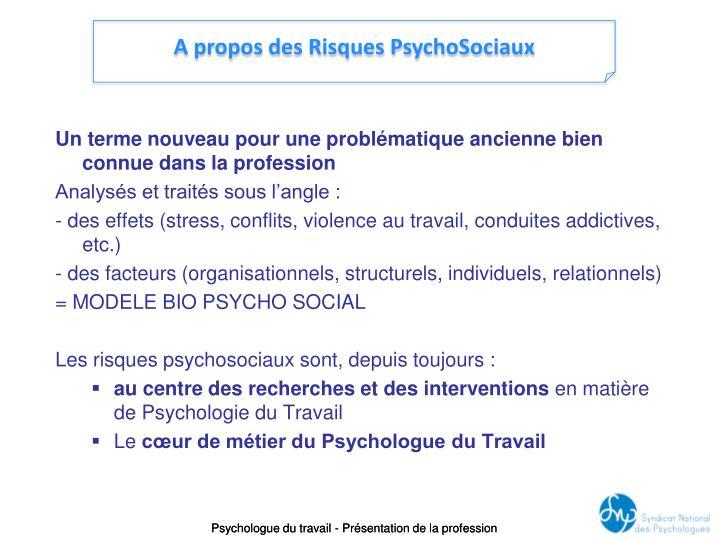 A propos des Risques PsychoSociaux