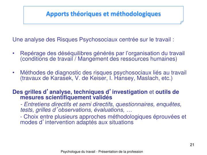 Apports théoriques et méthodologiques