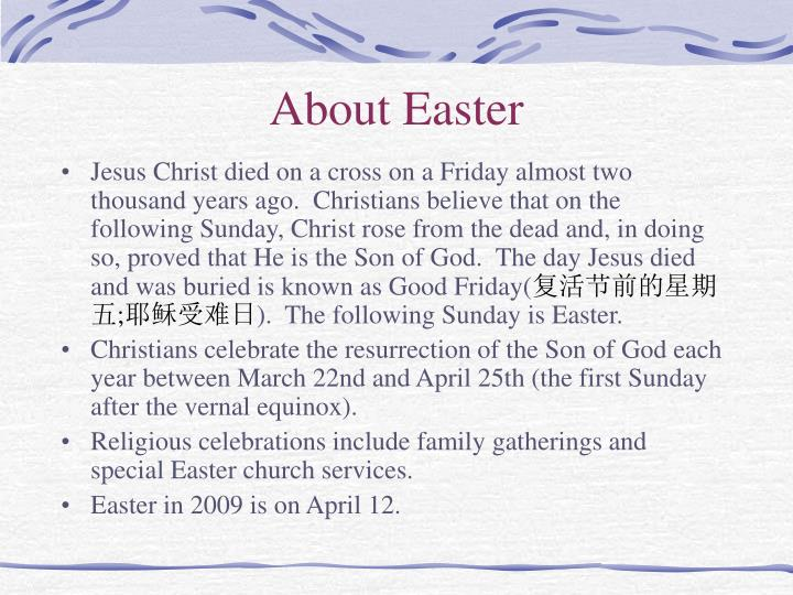 About Easter
