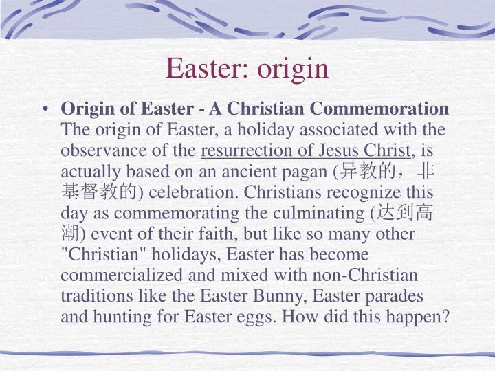 Easter: origin