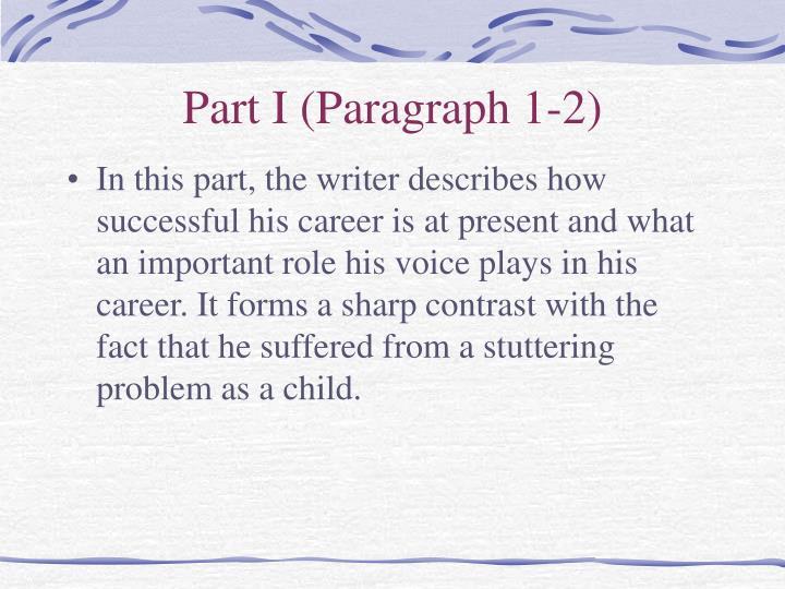 Part I (Paragraph 1-2)