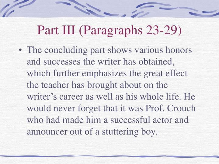 Part III (Paragraphs 23-29)