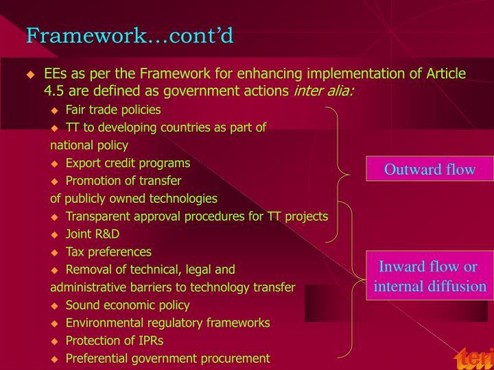 Framework…cont'd