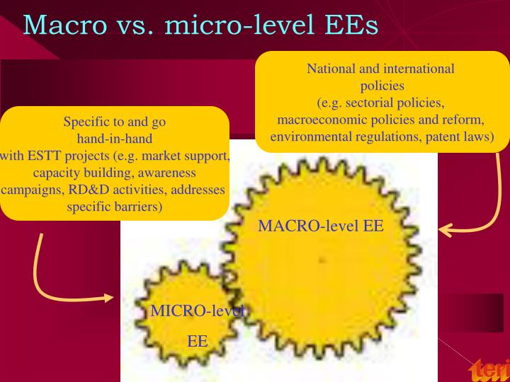 Macro vs. micro-level EEs