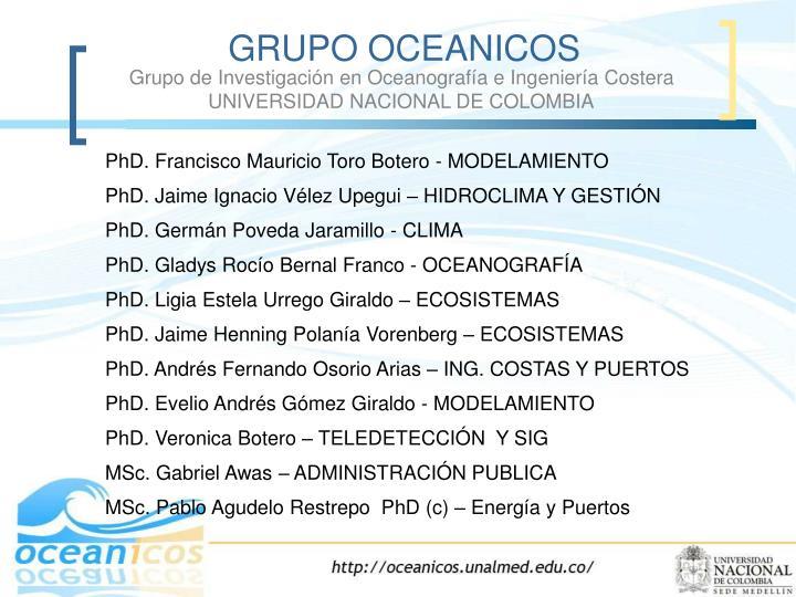 Grupo de Investigación en Oceanografía e Ingeniería Costera