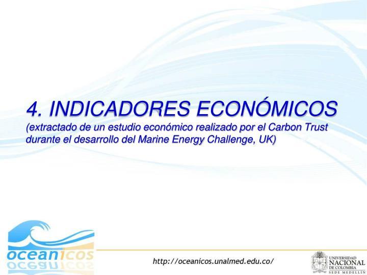 4. INDICADORES ECONÓMICOS