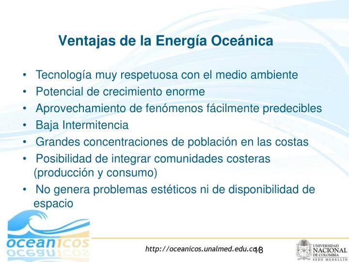 Ventajas de la Energía Oceánica