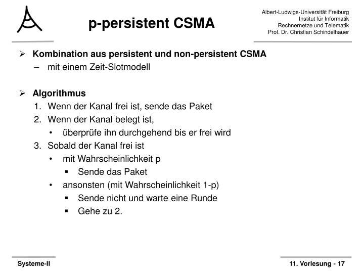 p-persistent CSMA