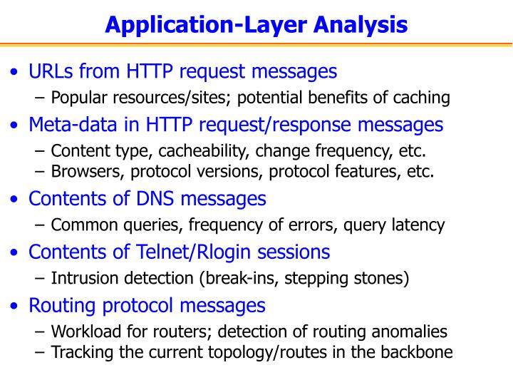 Application-Layer Analysis