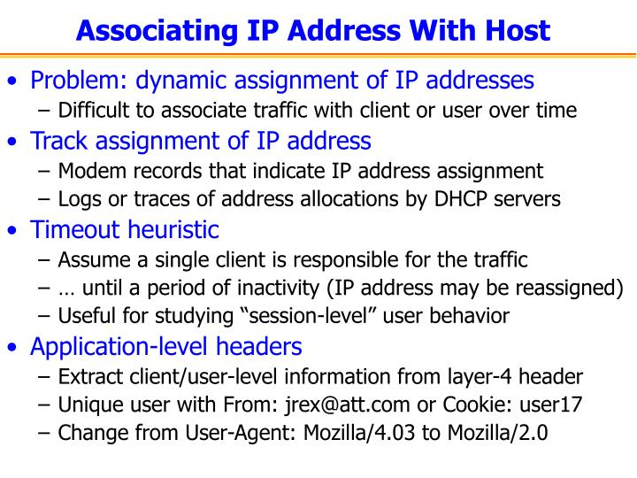 Associating IP Address With Host