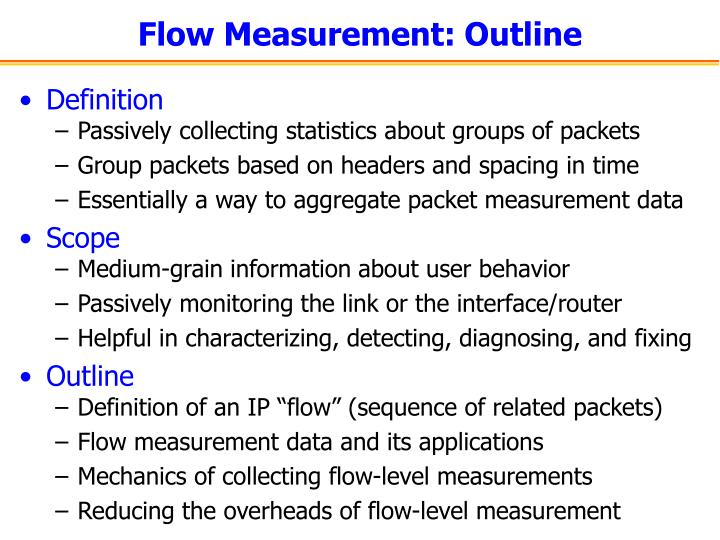 Flow Measurement: Outline