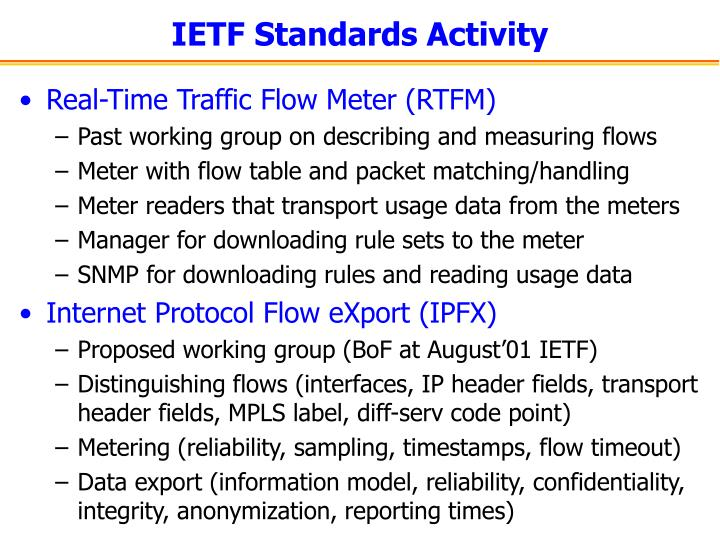 IETF Standards Activity