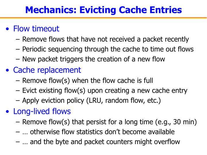 Mechanics: Evicting Cache Entries