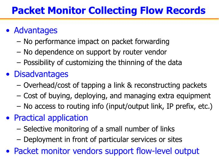 Packet Monitor Collecting Flow Records