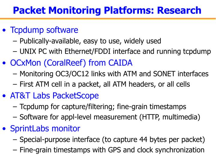 Packet Monitoring Platforms: Research