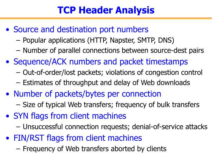 TCP Header Analysis