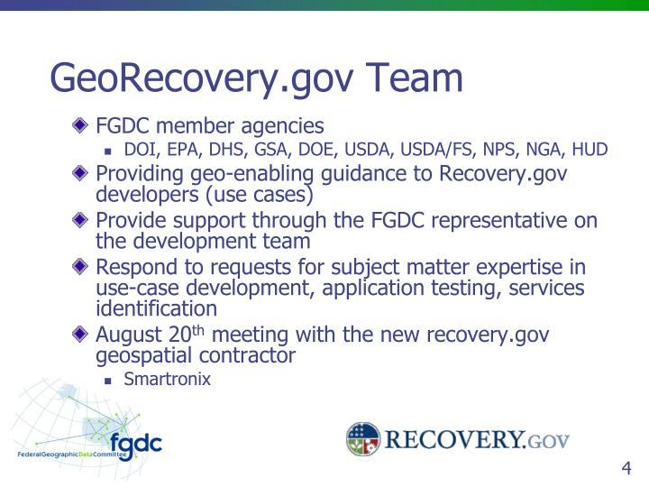 FGDC member agencies