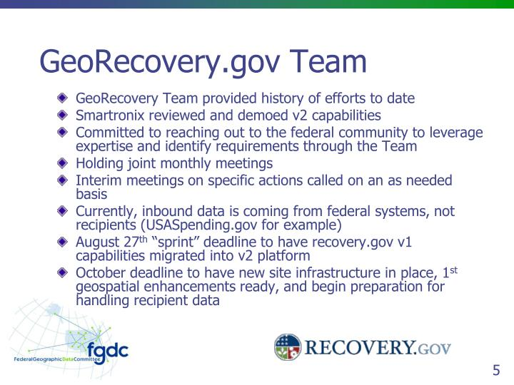 GeoRecovery.gov Team