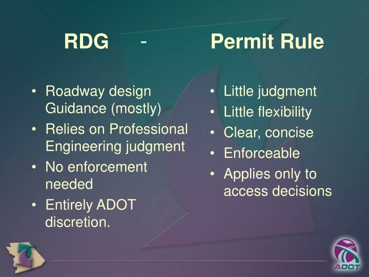 Roadway design Guidance (mostly)