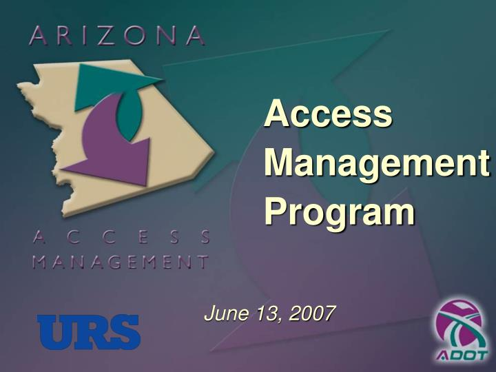 Access Management Program
