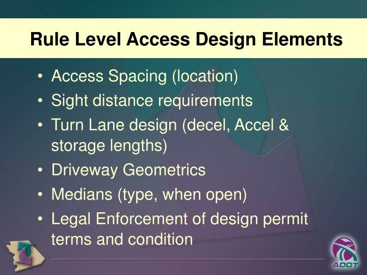 Rule Level Access Design Elements