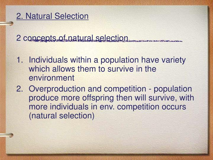2. Natural Selection