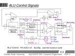 alu control signals