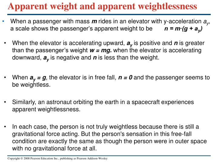 Apparent weight and apparent weightlessness