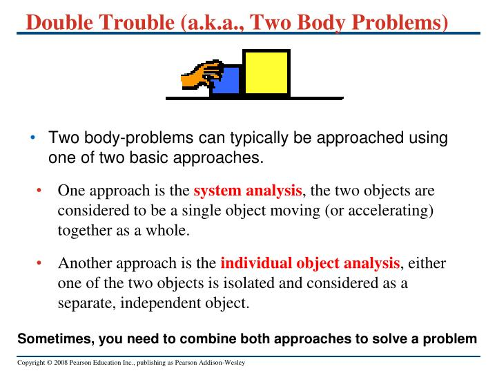 Double Trouble (a.k.a., Two Body Problems)