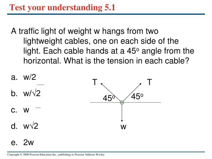 Test your understanding 5.1