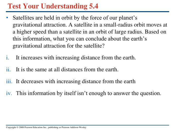 Test Your Understanding 5.4