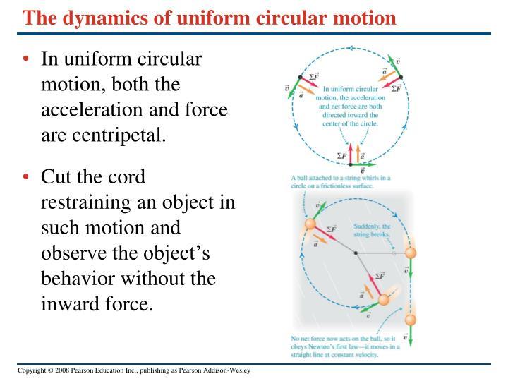 The dynamics of uniform circular motion
