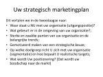 uw strategisch marketingplan