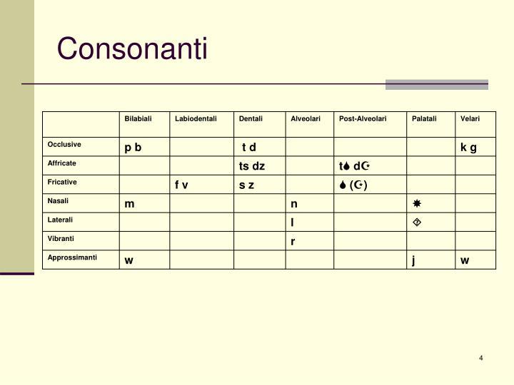 Consonanti