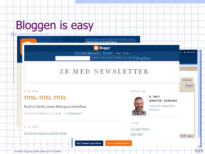 Bloggen is easy