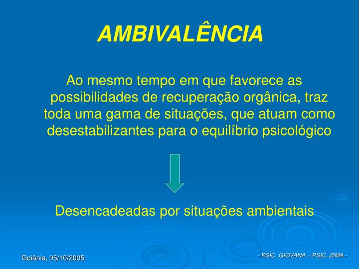 AMBIVALÊNCIA