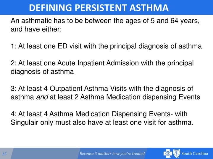 DEFINING PERSISTENT ASTHMA