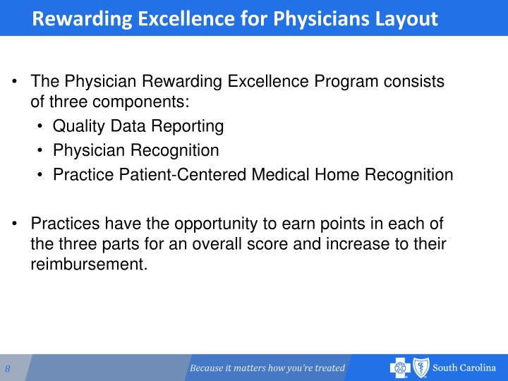 Rewarding Excellence for Physicians Layout