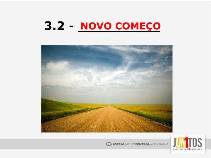 NOVO COMEÇO