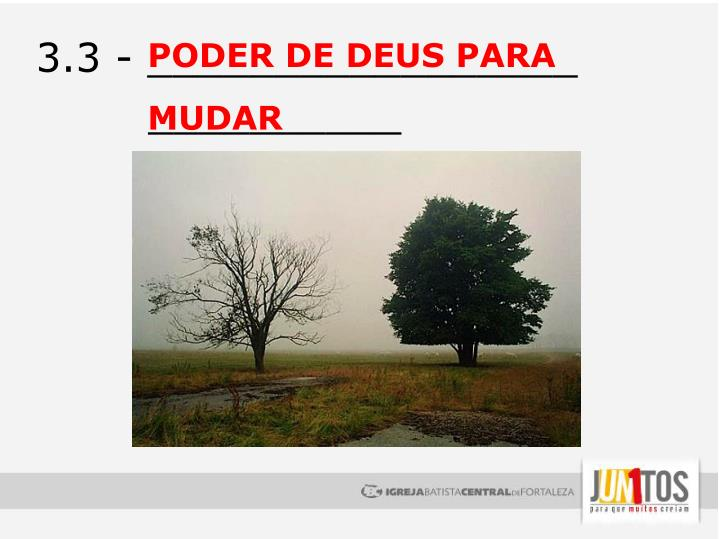 PODER DE DEUS PARA